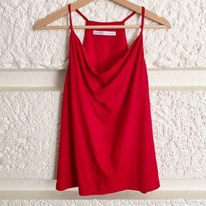 REVOLVE Susana Monaco Drape Neck Cami Top Red